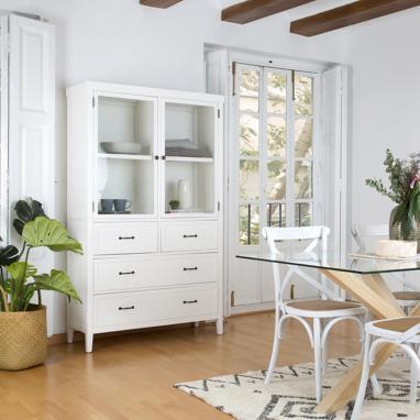 Mayen vitrina blanco marfil
