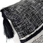 Nikk cojin flecos 45x45 negro/ gris