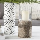 Poik wood glass candleholder