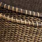 Tuan set 2 cestas natural ratán decoración