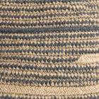 Taul cesto nat/azul textil 30cm.