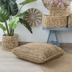 Llos natural rush floor cushion