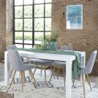 Gael white extendible table 160/210