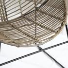 Luass grey rattan armchair