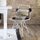 Leth grey rattan chair