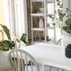 Vianca mesa comedor 160 blanco marfil